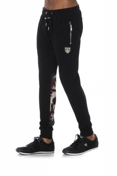 Pantalon de jogging noir avec strass               title=
