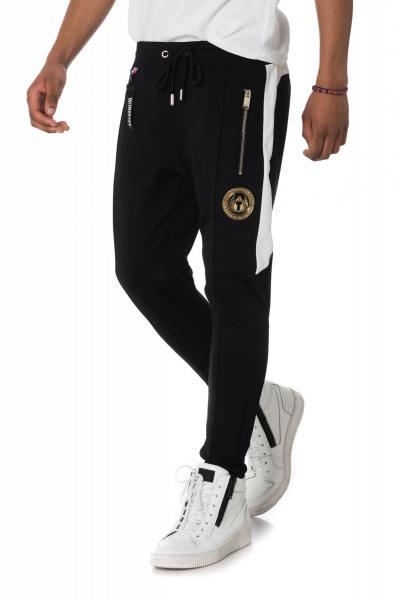 Pantalon de survet homme noir              title=