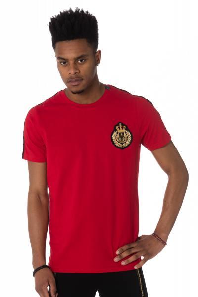 rotes Herren T-Shirt mit Emblem auf der Brust