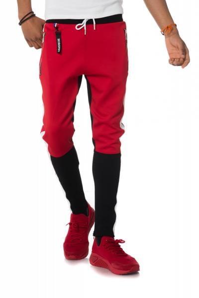 Pantalon de survêt rouge et noir              title=