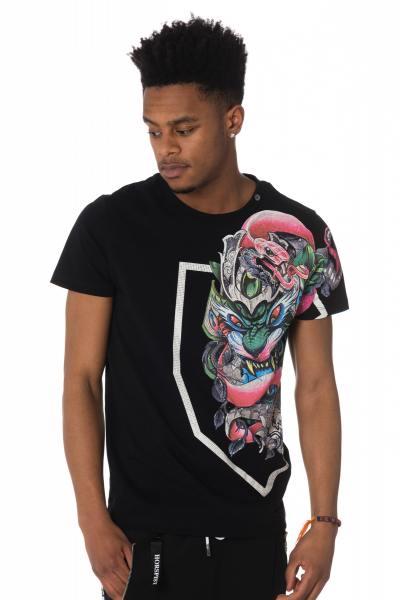 schwarzes Herren T-Shirt mit chinesischen Drachen              title=