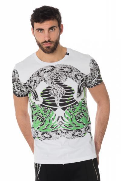 Tshirt blanc imprimé python              title=