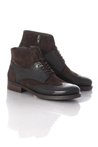 Boots / bottes Homme Chaussures Redskins DIOMAR NOIR CHATAIGNE