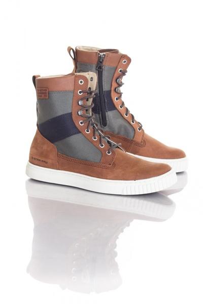 Boots / bottes Homme GStar Footwear HIGHLAND DK BROWN LTHR & TEXT W/COMBAT