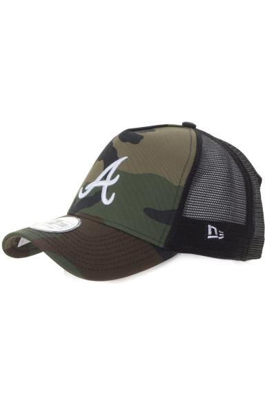 Casquette Homme New Era LEAGUE ESSENTIAL TRUCKER ATLBRA WDCWHI 0976