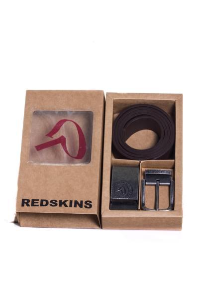 Ceinture Homme Accessoires Redskins COFFRET RED GOFFRE MARRON 1b14e43459d