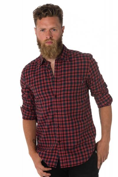 Chemise à carreaux rouge homme Diesel              title=