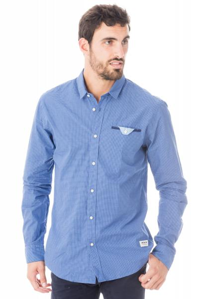 Chemise à carreaux bleus              title=