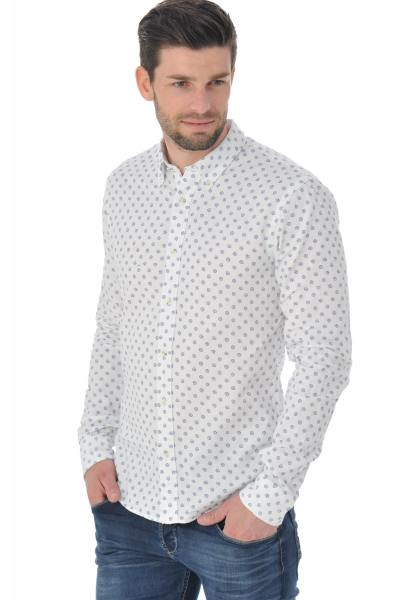 Hemd mit Muschel-Print
