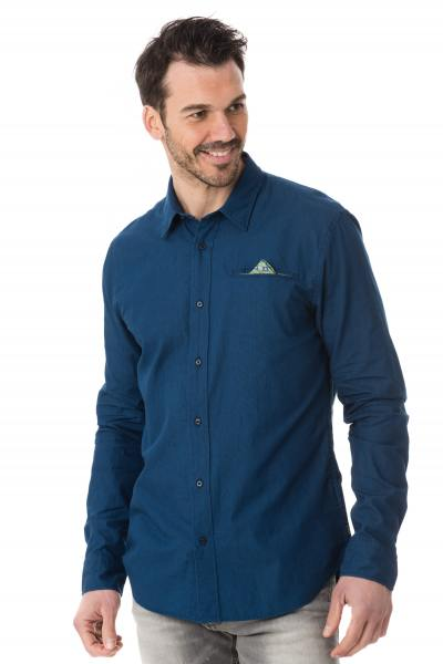 Chemise chic scotch&soda bleue homme              title=