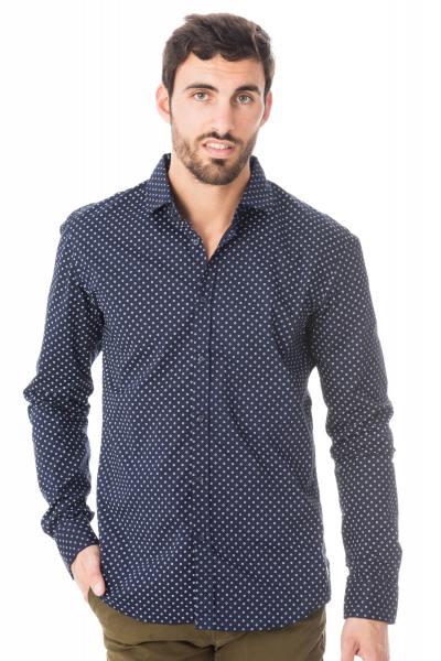 marineblaues  Scotch & Soda- Hemd mit weißen Prints