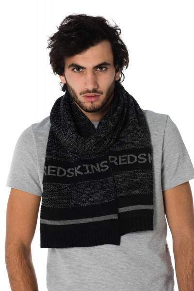 Schwarz-grauer Herren Schal von Redskins