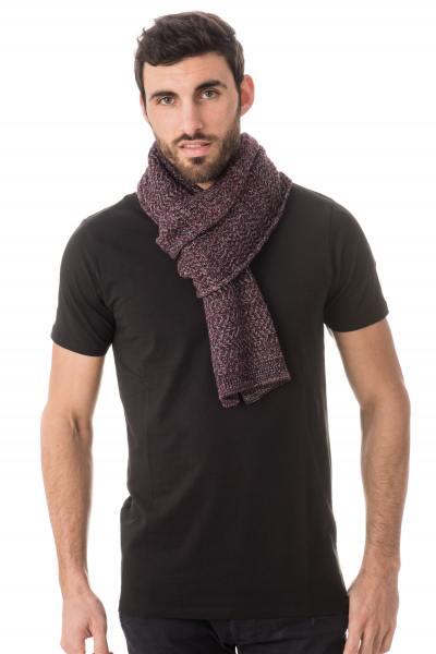 violett-melierter Herren-Schal Kaporal
