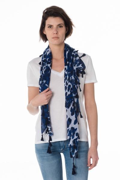 Foulard bleu camouflage              title=
