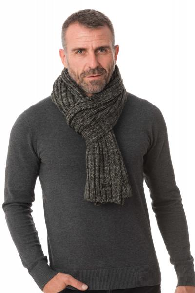Echarpe Homme Schott SCARF BOSTON ANTHRACITE MIX