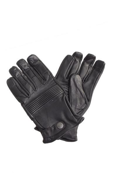 Schwarze Rindsleder Herren Handschuhe von Redskins - Touchscreen kompatibel