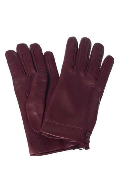 bordeauxfarbene Handschuhe aus Schafleder              title=