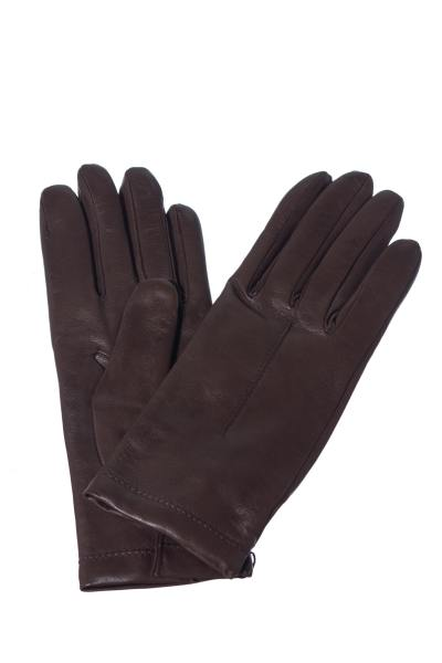 Gants en cuir de mouton marron               title=