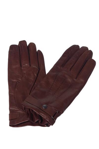 Herren-Handschuhe aus cognacfarbenem Leder              title=