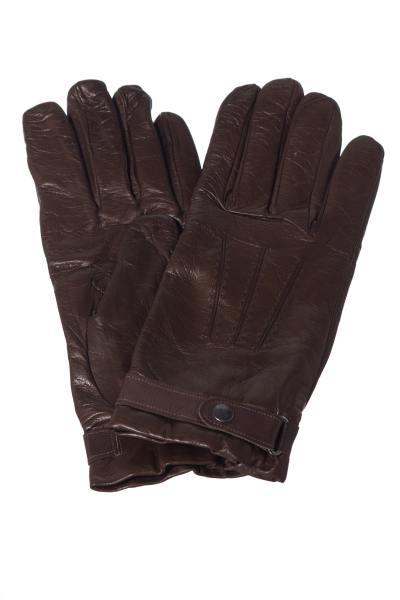 Handschuhe aus braunem Schafleder              title=