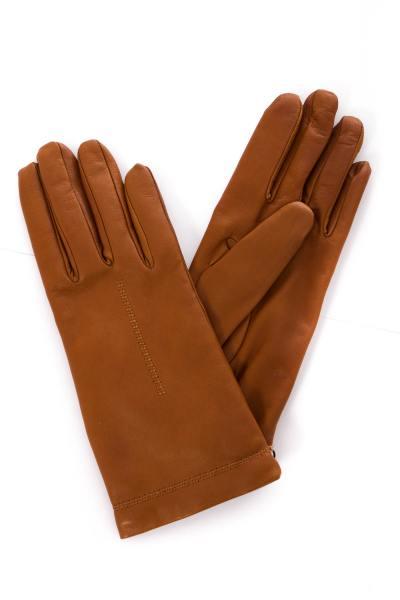 camelfarbene Damen-Handschuhe              title=