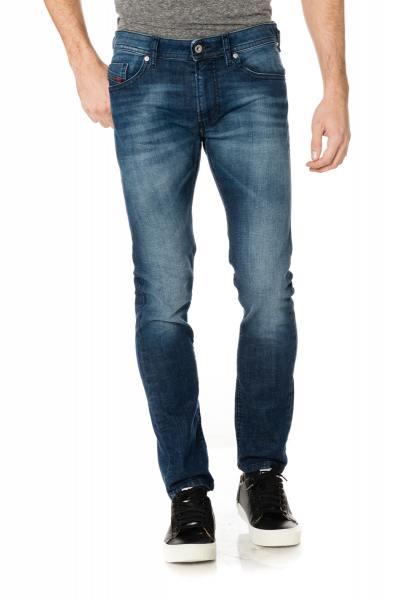 Jean homme skinny bleu délavé               title=
