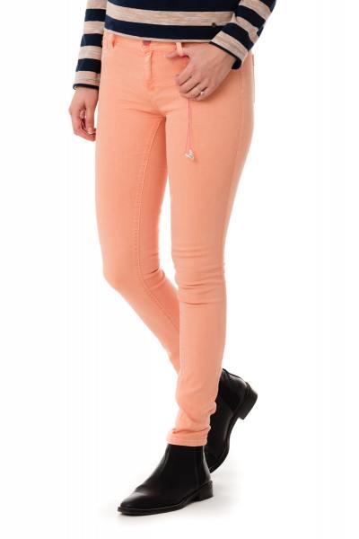 orangene Skinny-Jeans für Damen Kaporal