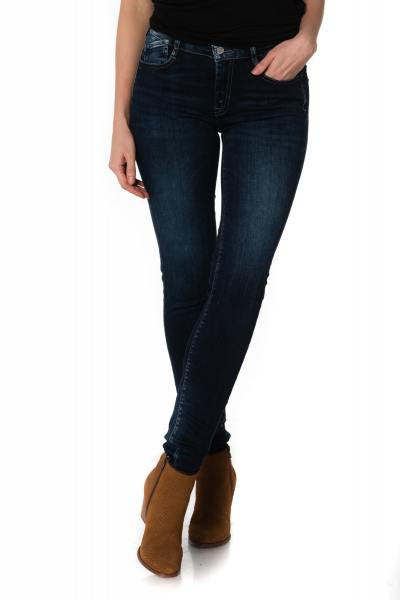 dunkelblaue Damen Skinny Jeans
