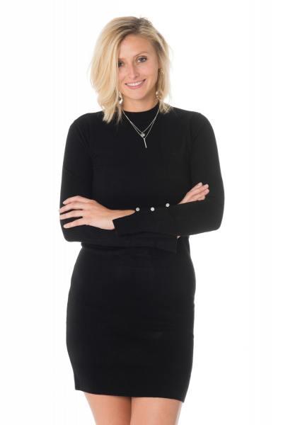 Schwarzes Pullover-Kleid von Kaporal