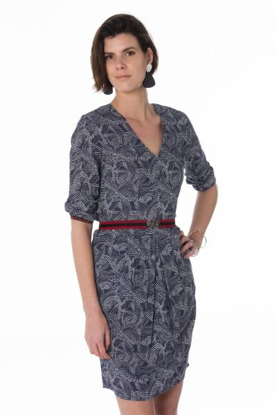 elegantes marineblaues Damen Kleid              title=