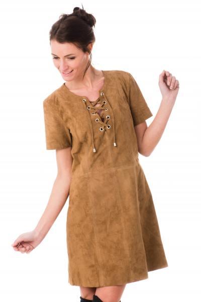 Kleid aus Ziegenleder Boheme-Look              title=