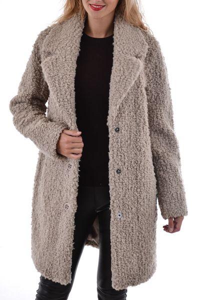 Manteau femme Oakwood en acrylique taupe              title=
