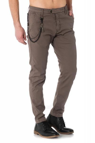 Pantalon en coton kaki avec mousqueton              title=