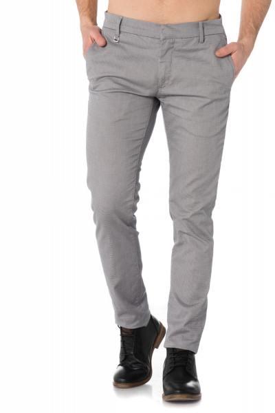 Pantalon classique bleu et blanc Antony Morato              title=