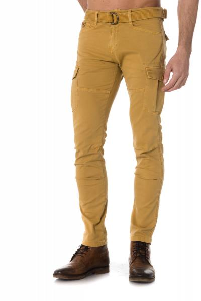 Pantalon battle jaune miel homme              title=