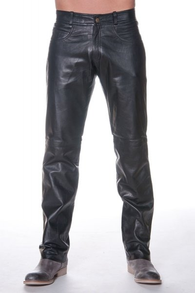 schwarze Herrenlederhose LAST REBELS              title=