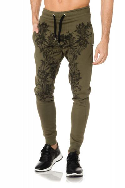 Pantalon jogging vert khaki DWN TWN Matuidi              title=