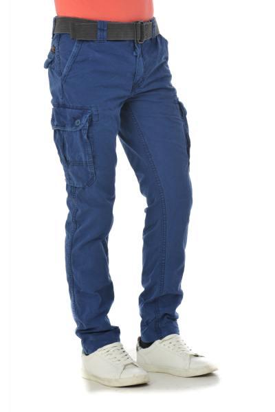 Pantalon Homme Schott TRBEACH70 DENIM BLUE