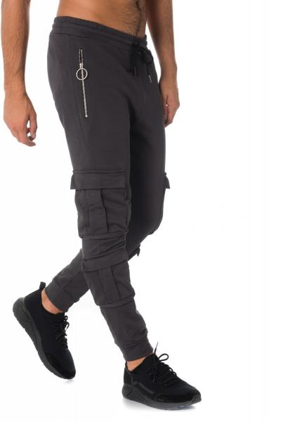 Pantalon de jogging esprit battle en coton gris              title=
