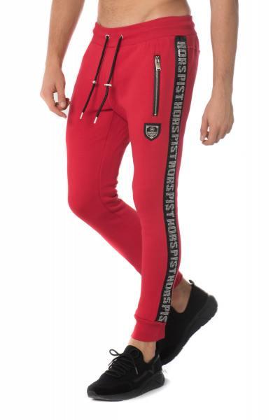 Pantalon de jogging rouge avec strass Horspist              title=