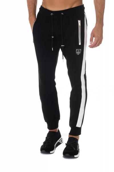 Pantalon de jogging noir/blanc Horspist              title=