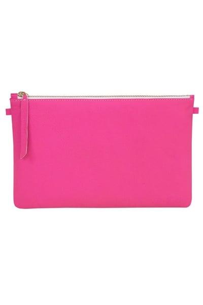 Pochette Femme en cuir Rose néon grand format              title=