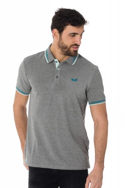 graumeliertes Herren Polo-Shirt