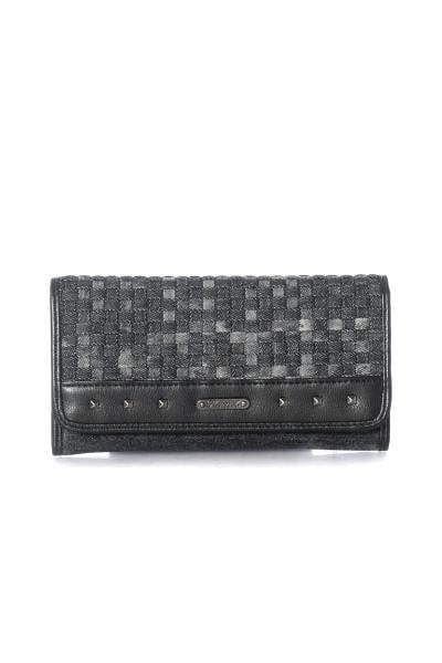 Schwarze Damen Brieftasche in Denim von Kaporal              title=