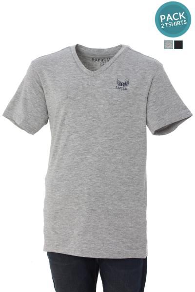 Pack 2 tee shirts noir et gris              title=