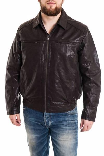 Blouson sportswear Homme Noir en cuir Lucina              title=
