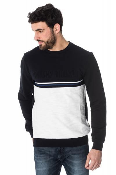 marineblauer/wei▬5er Sweater von Antony Morato              title=