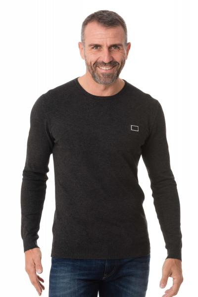 Fin pull anthracite col rond