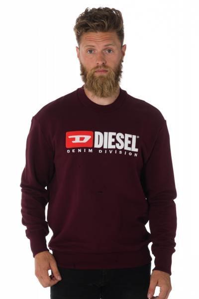 Sweatshirt Diesel bordeaux homme              title=