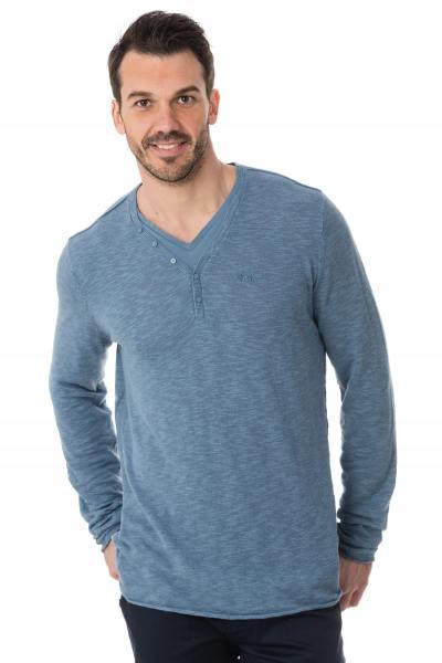 jeansblauer, feiner Pullover Kaporal